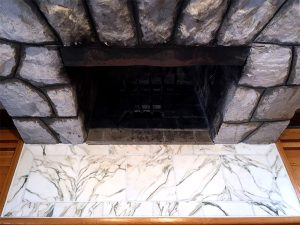 Marble Fireplace Re-Grouting