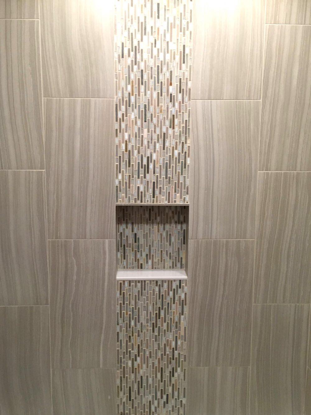 Waterfall Tile Bathroom Installation Lenco Tile
