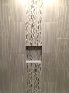 Waterfall Style Bathroom Tile Installation