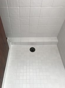 Shower Tile Re-Grouting